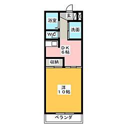 ガーデンプレイスヴィラ A・B[1階]の間取り