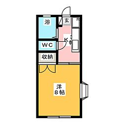 マンサードコーポ[1階]の間取り