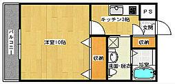 広島県広島市南区東青崎町の賃貸アパートの間取り