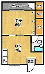 田口第一ビラ[202号室]の間取り