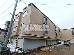 北海道札幌市北区篠路五条8丁目の賃貸アパートの外観