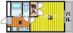 岡山県岡山市東区大多羅町の賃貸アパートの間取り