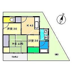 [一戸建] 高知県高知市万々 の賃貸【/】の間取り