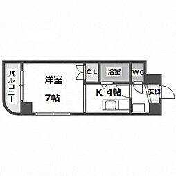 北海道札幌市中央区北六条西26丁目の賃貸マンションの間取り