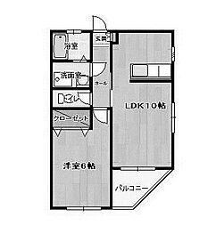 第二中川ビル[2階]の間取り