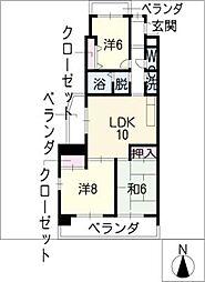 プレステージ[2階]の間取り