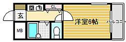 プレステージフジ堺市壱番館[2階]の間取り