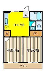 ロイヤルハイツB棟[2階]の間取り