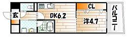 ザ・ヒルズ戸畑[12階]の間取り