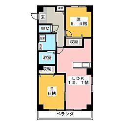チャプターマンション[3階]の間取り
