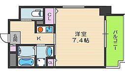 ビガーポリス101扇町[8階]の間取り