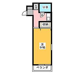 カレッジハイツ昴[2階]の間取り