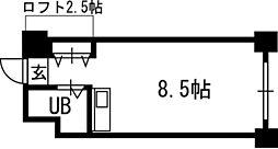 シャトー北24条[509号室]の間取り