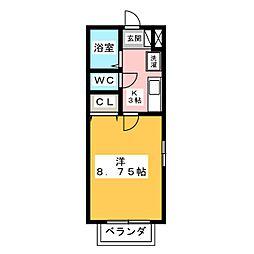 ラシュレ B[1階]の間取り