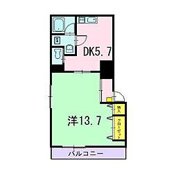 静岡県静岡市駿河区泉町の賃貸マンションの間取り