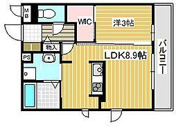 大阪府吹田市昭和町の賃貸アパートの間取り