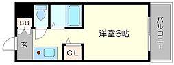 ラフォーレ桜宮II[7階]の間取り