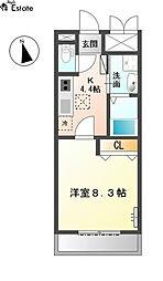 ガーデン桜 (ガーデンサクラ)[2階]の間取り