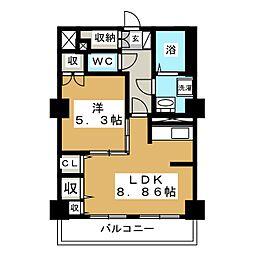 レジデンスカープ札幌[19階]の間取り
