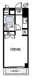 アパートメント曲松[102号室]の間取り