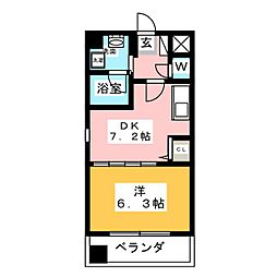 octava dios[4階]の間取り