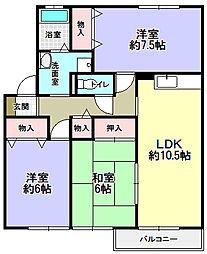 ARCADIA元町[1階]の間取り