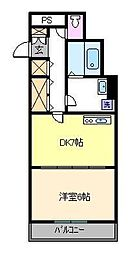 プティーボワービル[3階]の間取り