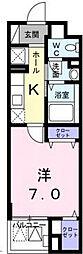 イーストブルー六番館[3階]の間取り