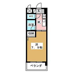 クリエイティブ一宮[3階]の間取り