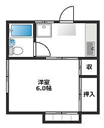 東京都練馬区羽沢1の賃貸アパートの間取り