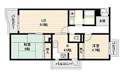 コスモリード笹塚[0103号室]の間取り