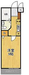 兵庫県伊丹市北本町1丁目の賃貸アパートの間取り