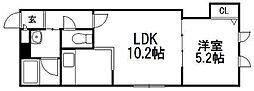 北海道札幌市手稲区手稲本町二条5丁目の賃貸アパートの間取り