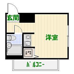 東京都葛飾区西亀有4の賃貸マンションの間取り