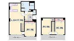 JR東海道・山陽本線 姫路駅 バス13分 北新在家2丁目下車 徒歩3分の賃貸マンション 3階3LDKの間取り