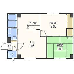 KOYAMAマンション[4階]の間取り