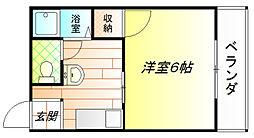 ハイツプリンス[1階]の間取り