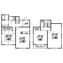 [一戸建] 静岡県浜松市南区東若林町 の賃貸【/】の間取り