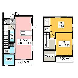 仮)鈎取4丁目集合住宅[2階]の間取り
