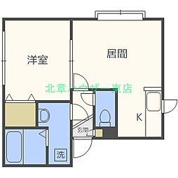 LEE SPASE39[3階]の間取り