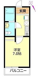 クローバーハウスIII[105号室]の間取り