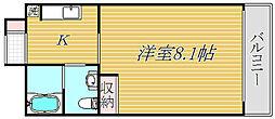 ビオス北朝霞[4階]の間取り