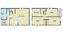 [一戸建] 兵庫県姫路市飾磨区今在家7丁目 の賃貸【/】の間取り