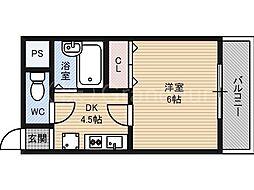 マルニコーポ都島第5[4階]の間取り