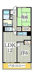アルトウッズ35[3階]の間取り