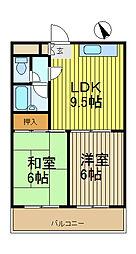 中村ハイム[3階]の間取り