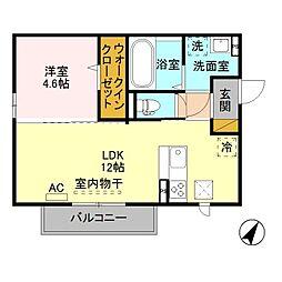 (仮)D-room寺尾台[B101号室]の間取り