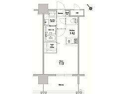 エンクレストベイ天神東II[5階]の間取り
