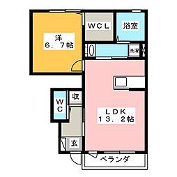 ルフォンG[1階]の間取り