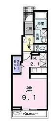 香川県丸亀市今津町の賃貸アパートの間取り